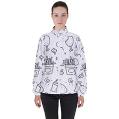 Set Chalk Out Scribble Collection High Neck Windbreaker (women)