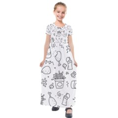 Set Chalk Out Scribble Collection Kids  Short Sleeve Maxi Dress