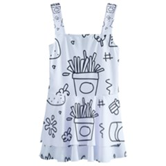 Set Chalk Out Scribble Collection Kids  Layered Skirt Swimsuit by Pakrebo