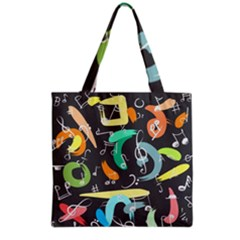 Repetition Seamless Child Sketch Grocery Tote Bag by Pakrebo