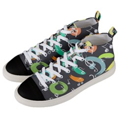 Repetition Seamless Child Sketch Men s Mid Top Canvas Sneakers by Pakrebo