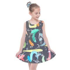 Repetition Seamless Child Sketch Kids  Summer Dress