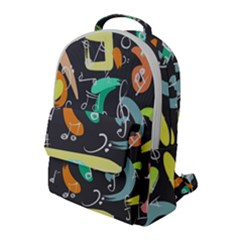 Repetition Seamless Child Sketch Flap Pocket Backpack (large)