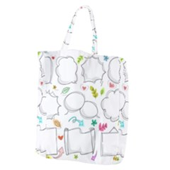 Set Chalk Out Chitchat Scribble Giant Grocery Tote
