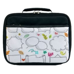 Set Chalk Out Chitchat Scribble Lunch Bag