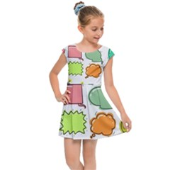 Set Collection Balloon Image Kids  Cap Sleeve Dress