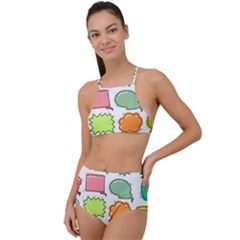Set Collection Balloon Image High Waist Tankini Set
