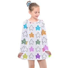 Set Set Up Element Disjunct Image Kids  Long Sleeve Dress