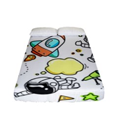 Sketch Cartoon Space Set Fitted Sheet (full/ Double Size)