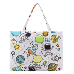 Sketch Cartoon Space Set Medium Tote Bag