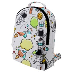 Sketch Cartoon Space Set Flap Pocket Backpack (small) by Pakrebo