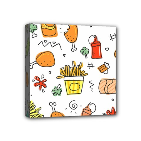 Cute Sketch Set Child Fun Funny Mini Canvas 4  X 4  (stretched)