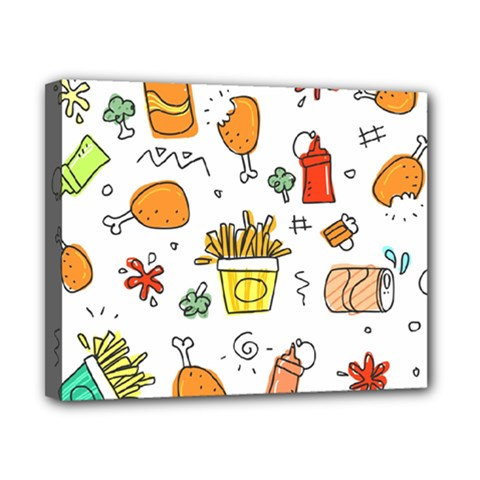 Cute Sketch Set Child Fun Funny Canvas 10  X 8  (stretched) by Pakrebo