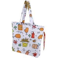 Cute Sketch Set Child Fun Funny Drawstring Tote Bag by Pakrebo