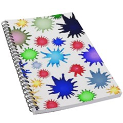 Inks Drops Black Colorful Paint 5 5  X 8 5  Notebook by Pakrebo