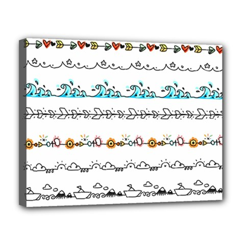 Decoration Element Style Pattern Canvas 14  X 11  (stretched)