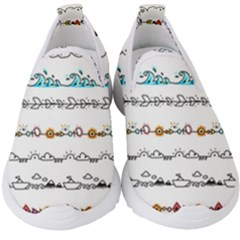 Decoration Element Style Pattern Kids  Slip On Sneakers