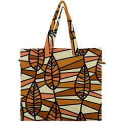 Autumn Leaf Mosaic Seamless Canvas Travel Bag by Pakrebo