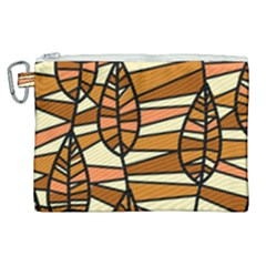 Autumn Leaf Mosaic Seamless Canvas Cosmetic Bag (xl) by Pakrebo