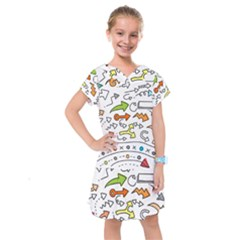 Desktop Pattern Art Graphic Design Kids  Drop Waist Dress