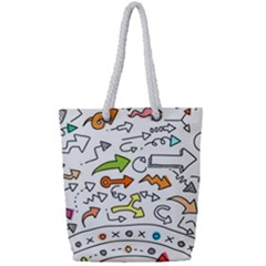 Desktop Pattern Art Graphic Design Full Print Rope Handle Tote (small)