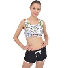 Desktop Pattern Art Graphic Design V Back Sports Bra