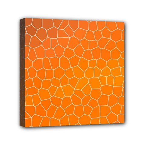Orange Mosaic Structure Background Mini Canvas 6  X 6  (stretched)