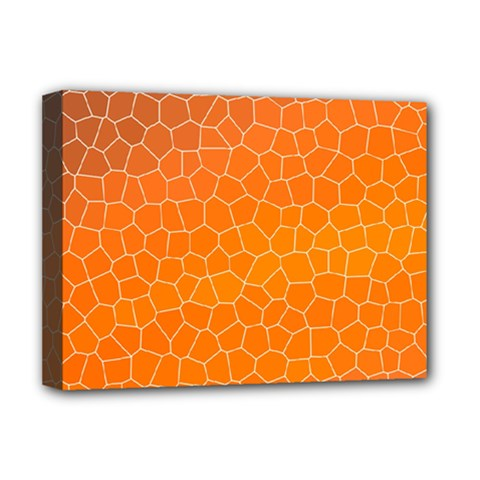 Orange Mosaic Structure Background Deluxe Canvas 16  X 12  (stretched)