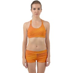 Orange Mosaic Structure Background Back Web Gym Set by Pakrebo