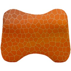 Orange Mosaic Structure Background Head Support Cushion