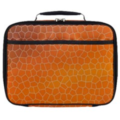 Orange Mosaic Structure Background Full Print Lunch Bag