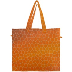 Orange Mosaic Structure Background Canvas Travel Bag by Pakrebo