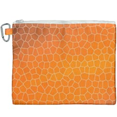 Orange Mosaic Structure Background Canvas Cosmetic Bag (xxxl) by Pakrebo