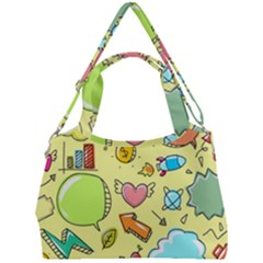 Cute Sketch Child Graphic Funny Double Compartment Shoulder Bag by Pakrebo
