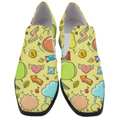 Cute Sketch Child Graphic Funny Slip On Heel Loafers