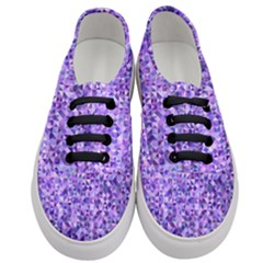 Purple Triangle Background Women s Classic Low Top Sneakers