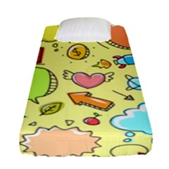 Cute Sketch Child Graphic Funny Fitted Sheet (single Size) by Pakrebo