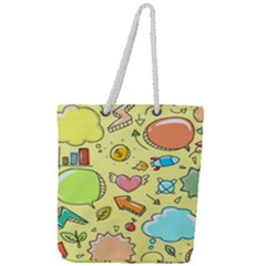 Cute Sketch Child Graphic Funny Full Print Rope Handle Tote (large)