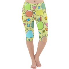 Cute Sketch Child Graphic Funny Lightweight Velour Cropped Yoga Leggings
