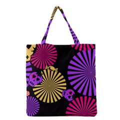 Seamless Halloween Day Of The Dead Grocery Tote Bag