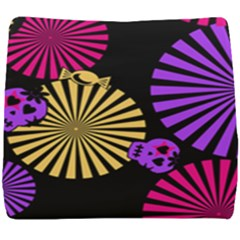 Seamless Halloween Day Of The Dead Seat Cushion