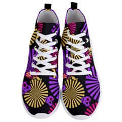 Seamless Halloween Day Of The Dead Men s Lightweight High Top Sneakers
