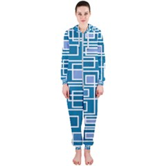 Geometric Rectangle Shape Linear Hooded Jumpsuit (ladies)