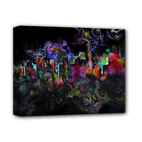 Grunge Paint Splatter Splash Ink Deluxe Canvas 14  X 11  (stretched)