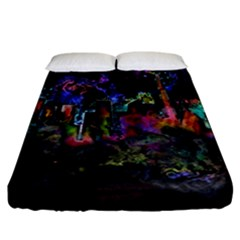 Grunge Paint Splatter Splash Ink Fitted Sheet (california King Size) by Pakrebo