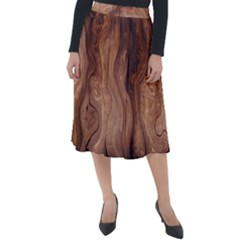 Pattern Background Structure Classic Velour Midi Skirt