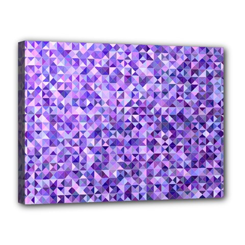 Purple Triangle Background Canvas 16  X 12  (stretched) by Jojostore