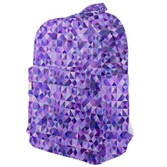 Purple Triangle Background Classic Backpack
