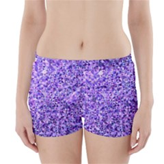 Purple Triangle Background Boyleg Bikini Wrap Bottoms