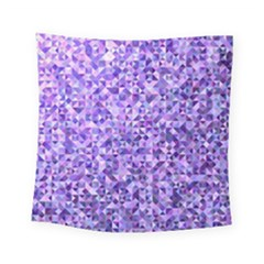 Purple Triangle Background Square Tapestry (small)